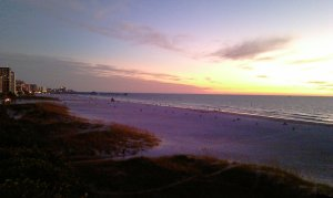 Clearwater Beach Sunset from Surfside Condos